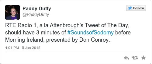 Tweet by @Paddy Duffy