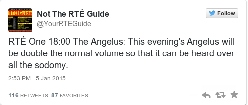 Tweet by @Not The RTÉ Guide
