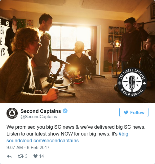 Tweet by @Second Captains