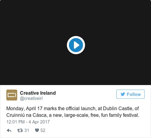 Tweet by @Creative Ireland