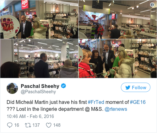 Tweet by @Paschal Sheehy