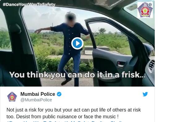 Tweet by @MumbaiPolice
