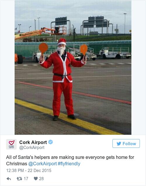 Tweet by @Cork Airport