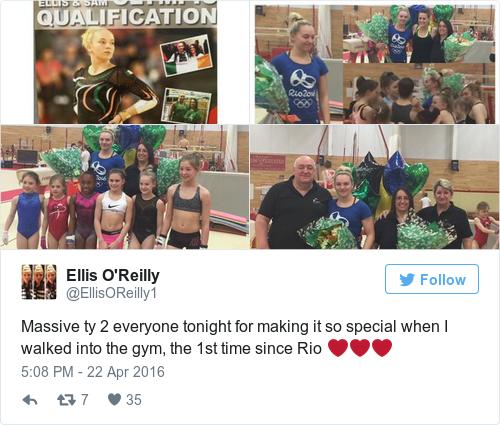 Tweet by @Ellis O'Reilly