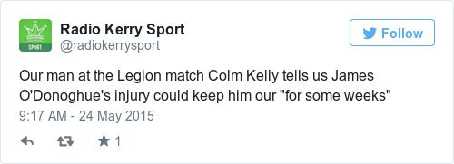 Tweet by @Radio Kerry Sport