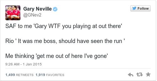 Tweet by @Gary Neville
