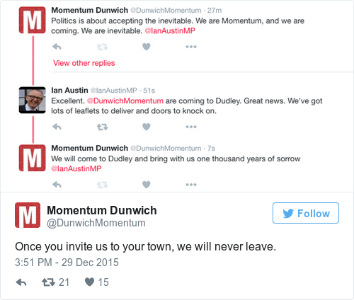 Tweet by @Momentum Dunwich