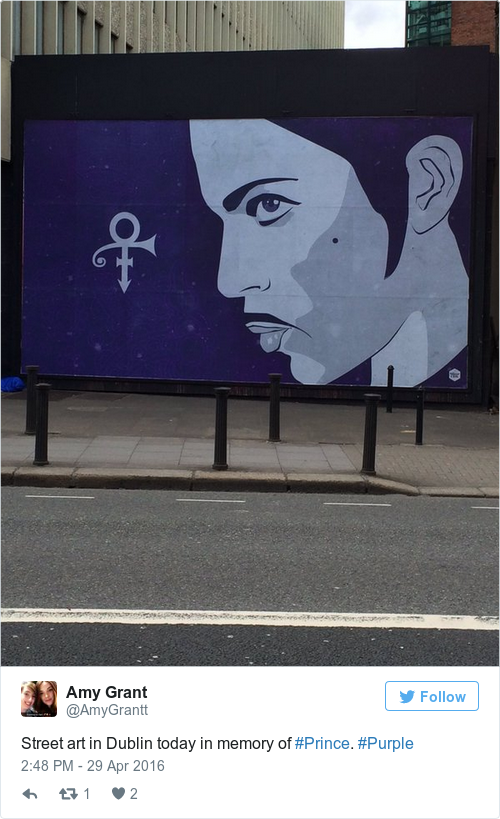 This lovely prince mural has gone up in dublin the daily for Dublin wall mural