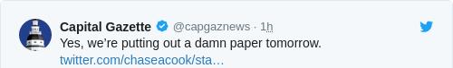Tweet by @Capital Gazette