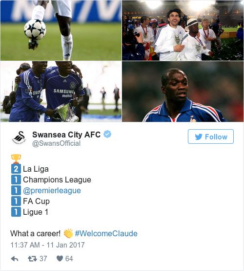 Tweet by @Swansea City AFC