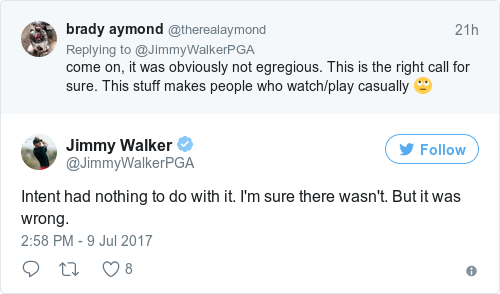Tweet by @Jimmy Walker