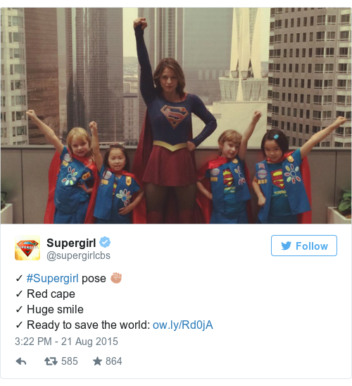 Tweet by @Supergirl