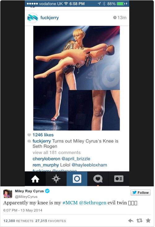 Tweet by @Miley Ray Cyrus