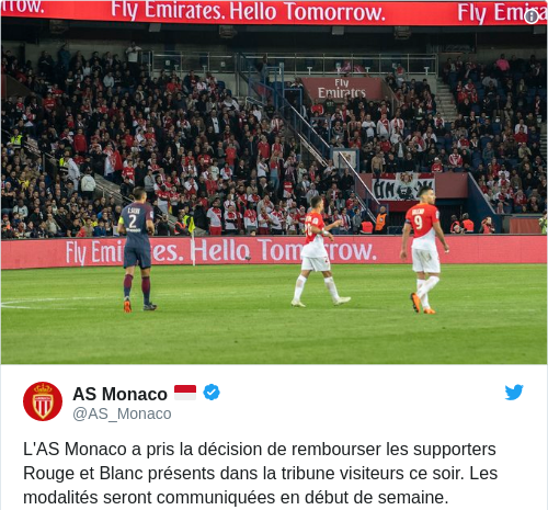 Tweet by @AS Monaco 🇲🇨