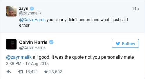 Tweet by @Calvin Harris