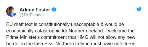 Uk and eu agree on brexit backstop solution for the irish border eu draft text is constitutionally unacceptable would be economically catastrophic for northern ireland i welcome the prime ministers commitment that hmg solutioingenieria Image collections