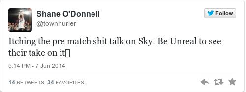 Tweet by @Shane O'Donnell