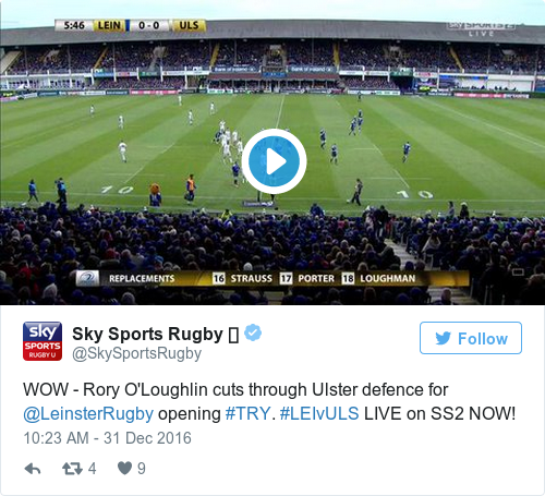 Tweet by @Sky Sports Rugby 🏉
