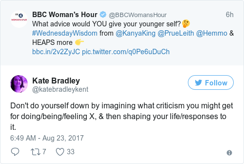 Tweet by @Kate Bradley