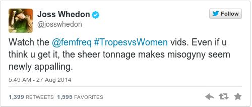 Tweet by @Joss Whedon