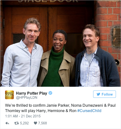 Tweet by @Harry Potter Play