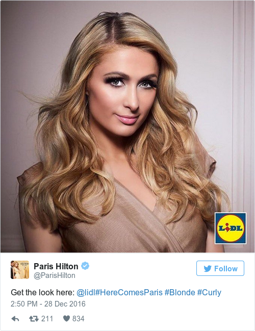 Tweet by @Paris Hilton