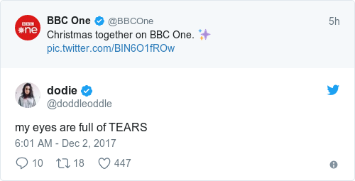 Tweet by @dodie