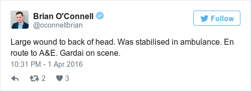 Tweet by @Brian O'Connell