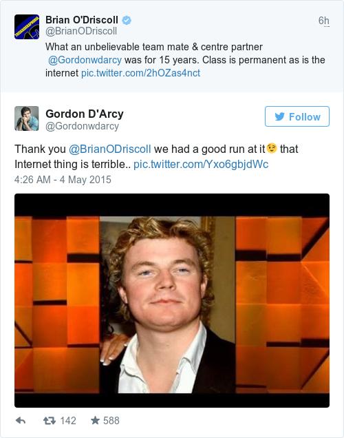Tweet by @Gordon D'Arcy