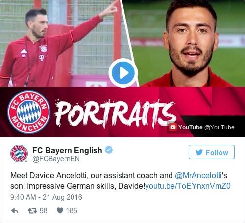 Tweet by @FC Bayern English