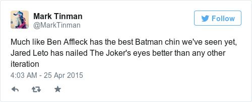 Tweet by @Mark Tinman