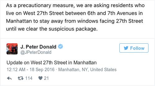 Tweet by @J. Peter Donald