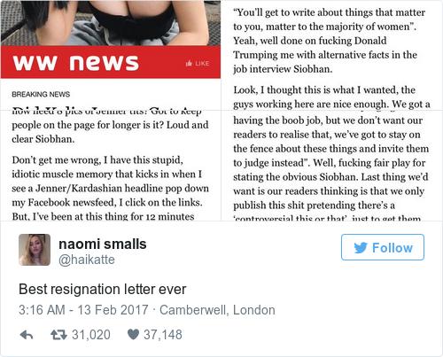 Tweet by @naomi smalls