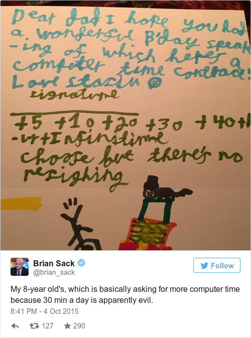 This Kid Made His Dad A Hilarious And Rather Dark Birthday Card