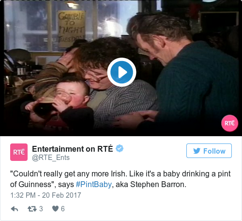 Tweet by @Entertainment on RTÉ