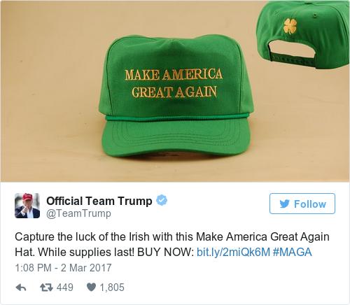 Tweet by @Official Team Trump