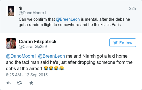 Tweet by @Ciaran Fitzpatrick