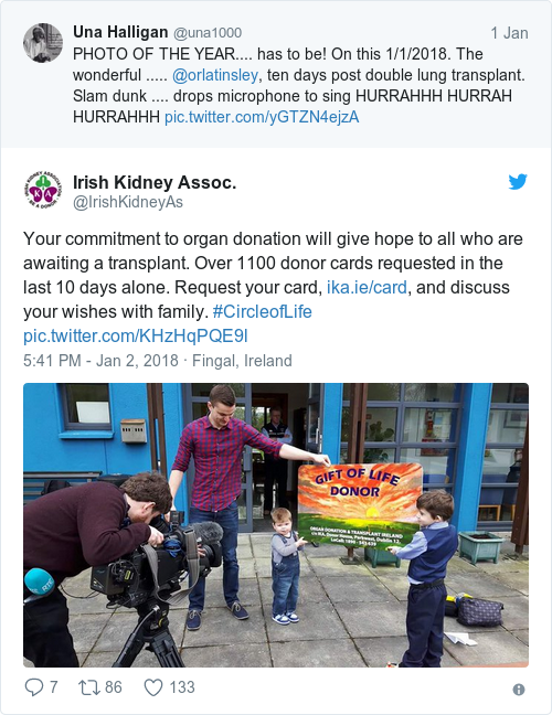 Tweet by @Irish Kidney Assoc.
