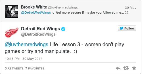 Tweet by @Detroit Red Wings