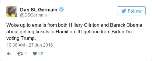 Tweet by @Dan St. Germain