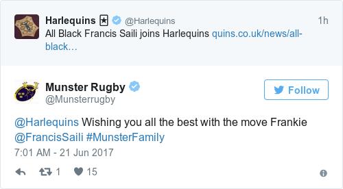 Former All Black Francis Saili joins Harlequins
