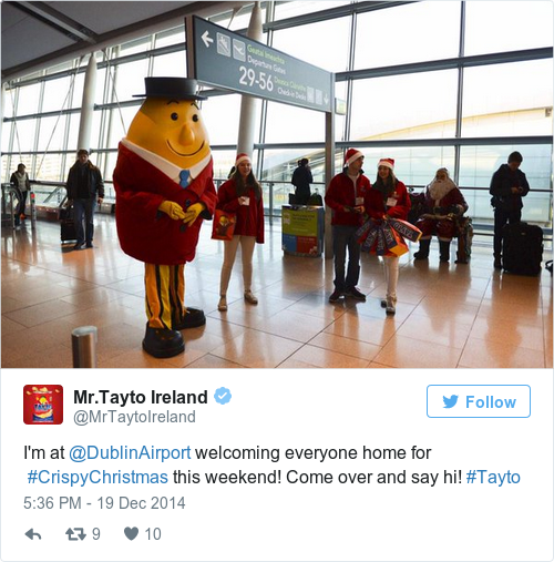 Tweet by @Mr.Tayto Ireland