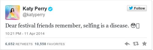 Tweet by @Katy Perry