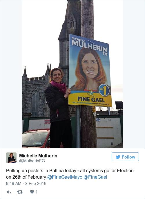 Tweet by @Michelle Mulherin