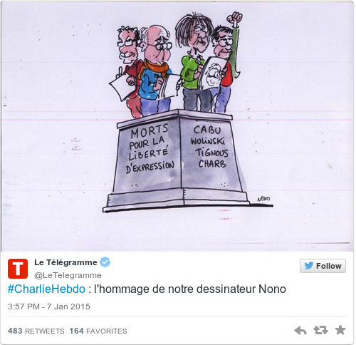 Powerful Responses From Cartoonists To The Charlie Hebdo Attack - 24 powerful cartoon responses charlie hebdo shooting
