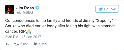 Tweet by @Jim Ross