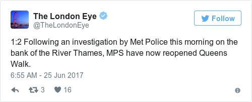 Tweet by @The London Eye