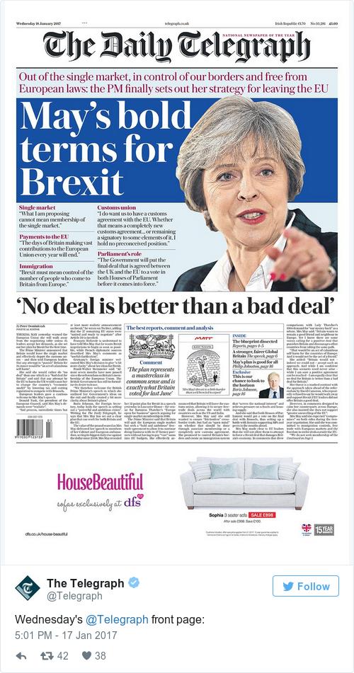 Tweet by @The Telegraph