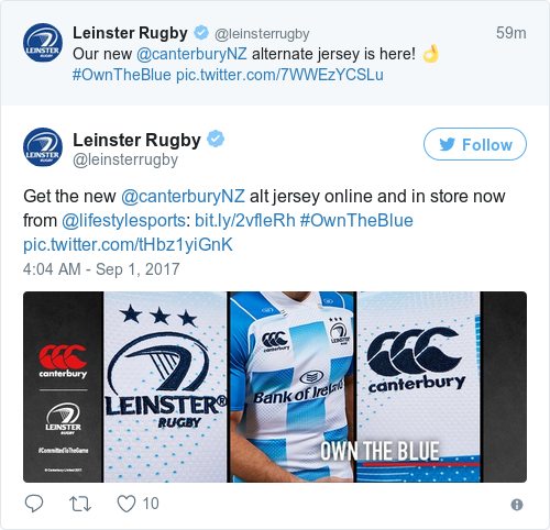 Tweet by @Leinster Rugby