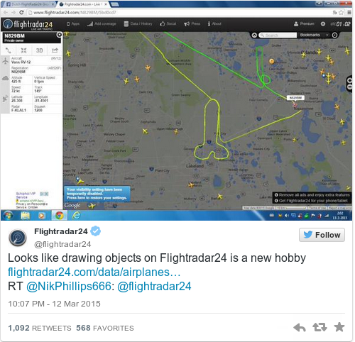 flightradar twitter